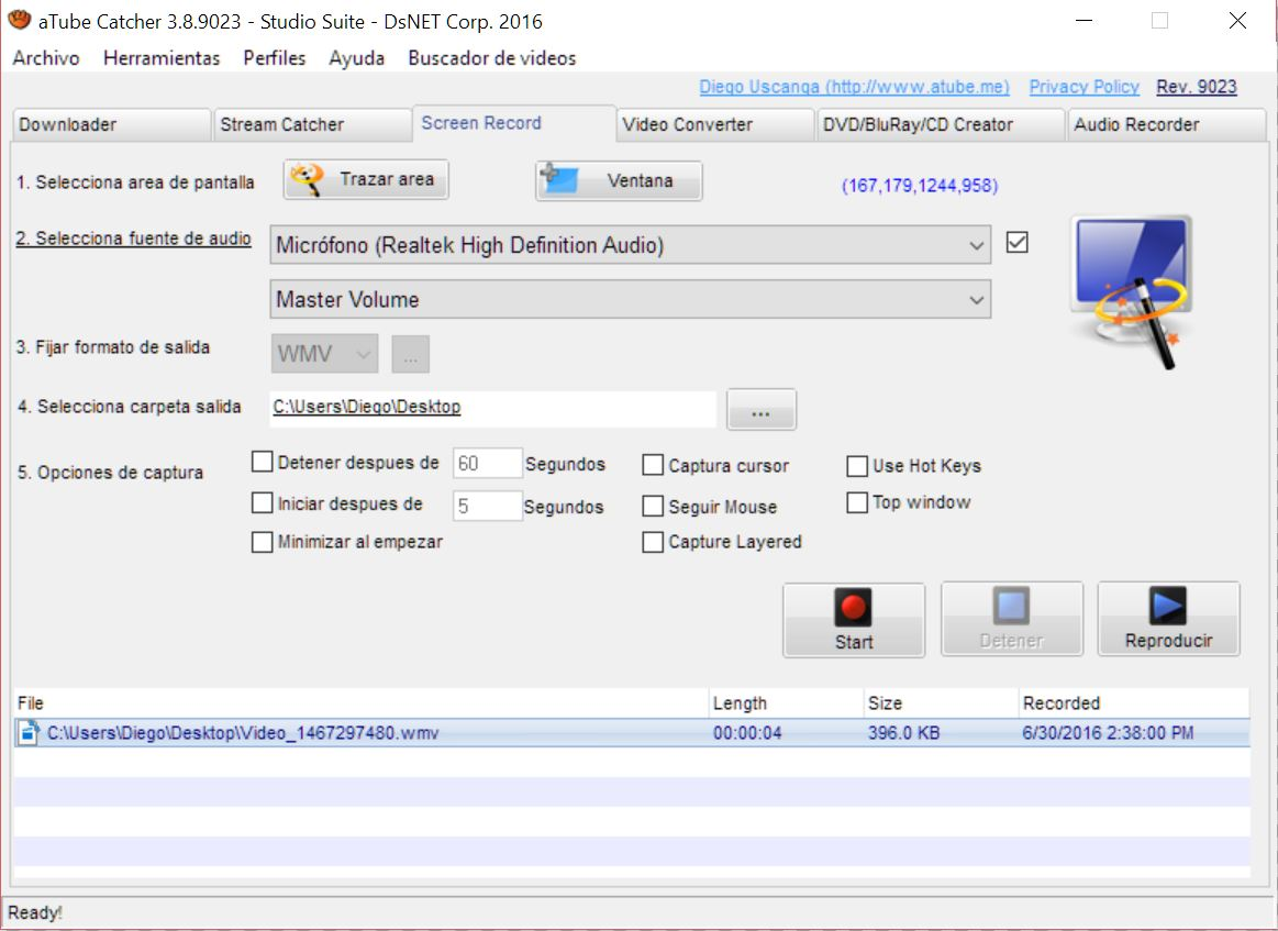 video streaming con atube catcher